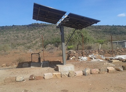 Solar powered bore-hole